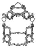 Old Frame. Old Victorian Frame on a White background royalty free illustration