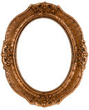 Old frame. Old bronze color wooden frame with path Royalty Free Stock Photo