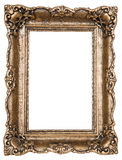 Old frame. Old square wooden frame with path Royalty Free Stock Photos