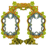 Old Frame. Luxuriously illustrated old Victorian frame Stock Images