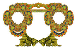 Old Frame. Luxuriously illustrated old Victorian frame stock illustration