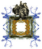 Old Frame. Luxurious Victorian frame, with a gladiator stock illustration