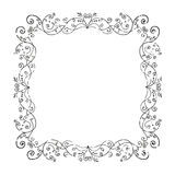 Old frame. Floral vintage frame with grunge effect, vector illustration Vector Illustration