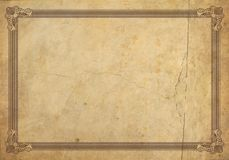 Old frame. Antique frame with stone texture, high resolution Stock Photo