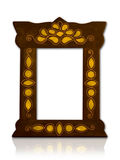 Old frame. An old isolated picture frame Royalty Free Stock Photo