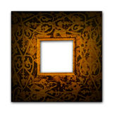 Old frame. An old floral picture frame Royalty Free Stock Photo