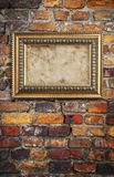Old frame against wall Stock Photos