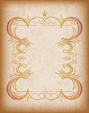 Old frame with crown on grunge style background with blank space Stock Photography