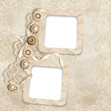 Old frame on elegant vintage background Royalty Free Stock Image