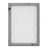 Old Frame. Old empty picture frame isolated on white. Clipping path included for easy selection Royalty Free Stock Image