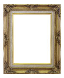 Old Frame gold and copper vintage isolated background. Stock Photo