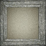 Old frame with grey paper Royalty Free Stock Image
