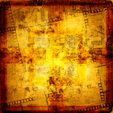 Old frame and grunge  filmstrip. On the grunge background Stock Photo