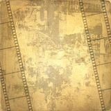 Old frame and grunge  filmstrip. On the grunge background Stock Image