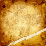 Old frame and grunge  filmstrip. On the grunge background Royalty Free Stock Image