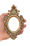 Old frame in the hand Royalty Free Stock Images