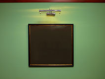 Old frame with lighting royalty free stock images