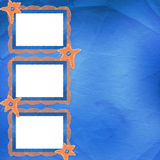 Old frame with orange stars and buttons Royalty Free Stock Images
