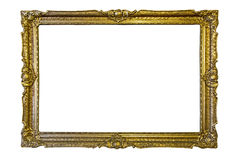 Old frame. Old painting frame isolated on white background Stock Photos