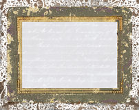 Old frame paper background Royalty Free Stock Photos