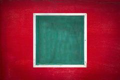 Old frame and red old wall Royalty Free Stock Image
