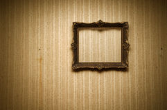 Old frame on retro wall Royalty Free Stock Photos