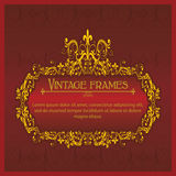 Old frame in square 1 Royalty Free Stock Images