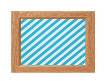 Old frame with striped canvas isolated on white background Royalty Free Stock Images