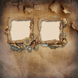 old frame on vintage background Stock Photography
