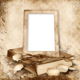 Old frame on vintage background Royalty Free Stock Photography