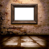 old frame on the wall  Royalty Free Stock Images