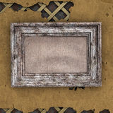 Old frame on wall Royalty Free Stock Photo