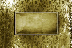 Old frame on the wall. Vintage background Stock Images