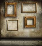 Old frames hanging on wall Royalty Free Stock Photography