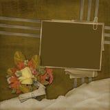Old framework on the grunge background Stock Image