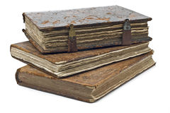 Old frayed books isolated Royalty Free Stock Photography