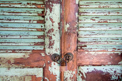 Old frayed doors Stock Photo