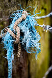 Old frayed knot Stock Photo