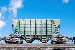 Freight car over blue sky Stock Photos