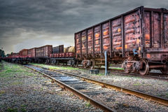 Old Freight Carriages Royalty Free Stock Photo
