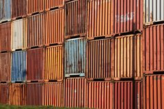 Old freight container. Some old freight container waiting for work Royalty Free Stock Photos