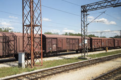 An old freight train Stock Photo