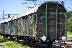 Old freight train Stock Photo