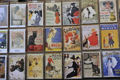 Old French Advertisement Stock Images