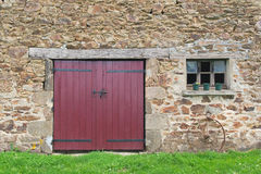 Old French barn royalty free stock image