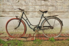 Old French Bicycle Royalty Free Stock Photography