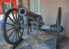 Old French Cannon, French Quarter, New Orleans Stock Image
