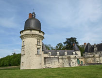 Old french castle. In the forest Royalty Free Stock Photo