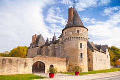 Old french castle in Loire Valley Stock Photos