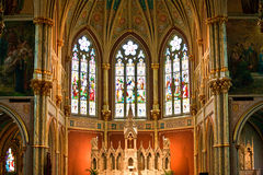 Old french catholic church Saint John the baptist Stock Images